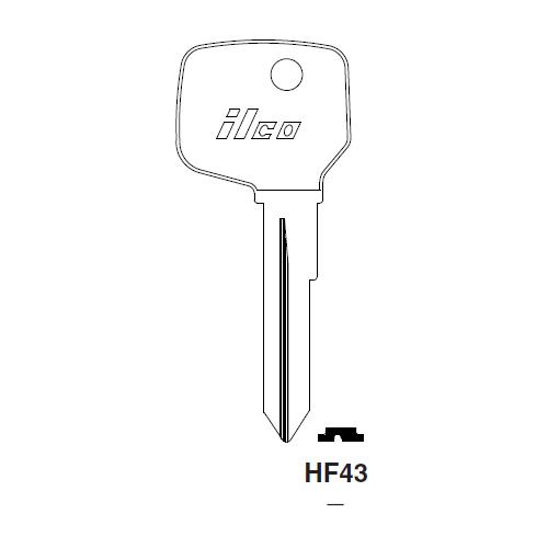 Ilco HF43 Key Blank : Clum Inboard Motors, Opel