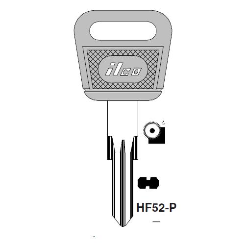 Ilco  HF52-P Porsche Plastic Head Key Blank