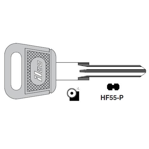 Ilco  HF55-P Porsche Plastic Head Key Blank