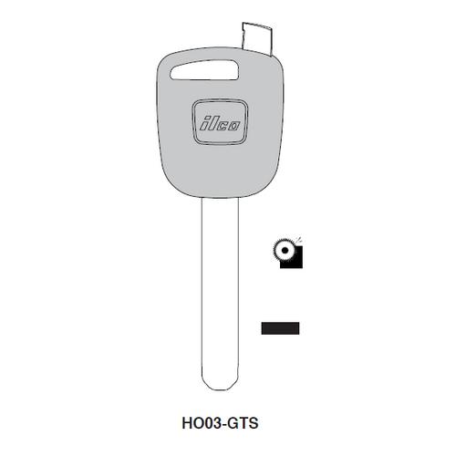Ilco HO03-GTS Chipless Key Blank; HONDA