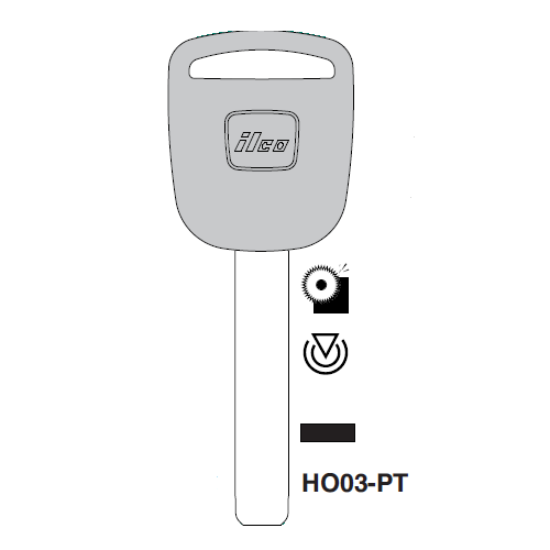 JMA HO03PT Transponder Key Blank; Honda Automobiles