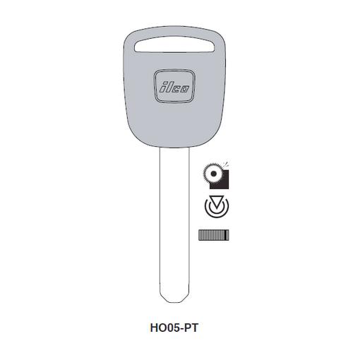 Ilco HO05-PT Transponder Key Blank; Honda Automobiles