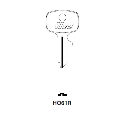Ilco HO61R Key Blank : Honda Motorcycles
