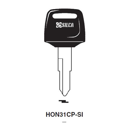 Ilco  HON31CP Honda Motorcycles, Kymco Plastic Head Key Blank; ( HD75,  X138 )