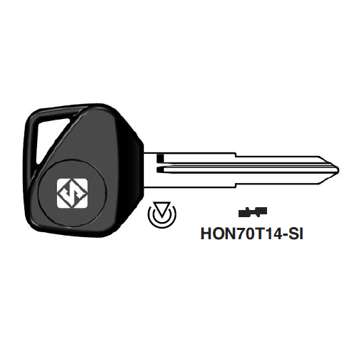 Ilco HON70T14-SI Transponder Key Blank; Honda Motorcycles, Kymco