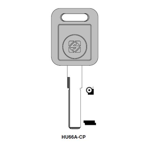 Ilco  HU66A-CP Audi Plastic Head Key Blank