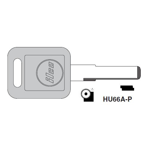 Ilco  HU66A-P Audi Plastic Head Key Blank