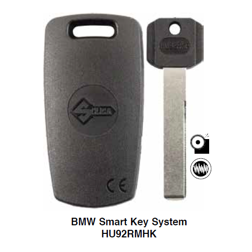 Ilco HU92RMHK Electronic Clonable Key Blank; Bmw Smart Key System