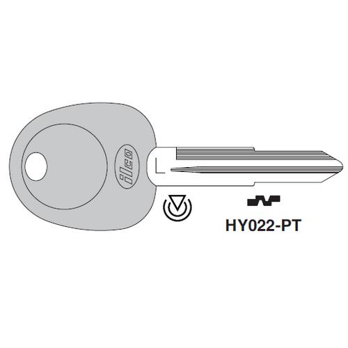 Ilco HY022-PT Transponder Key Blank; Hyundai