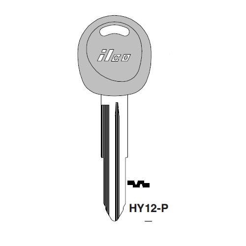 Ilco  HY12-P Hyundai Plastic Head Key Blank; ( HY12,  X232 )