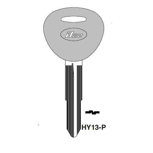 Ilco  HY13-P Hyundai Plastic Head Key Blank; ( HY13,  X235 )