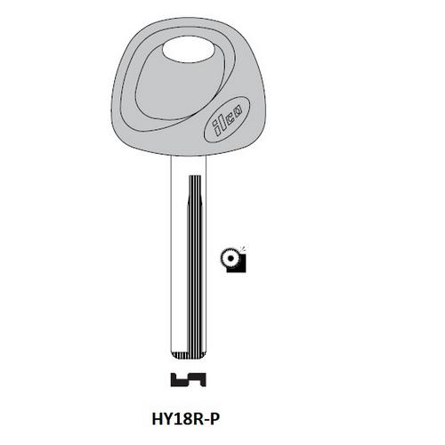 Ilco HY18R-P Plastic Head Key Blank; Hyundai, Kia