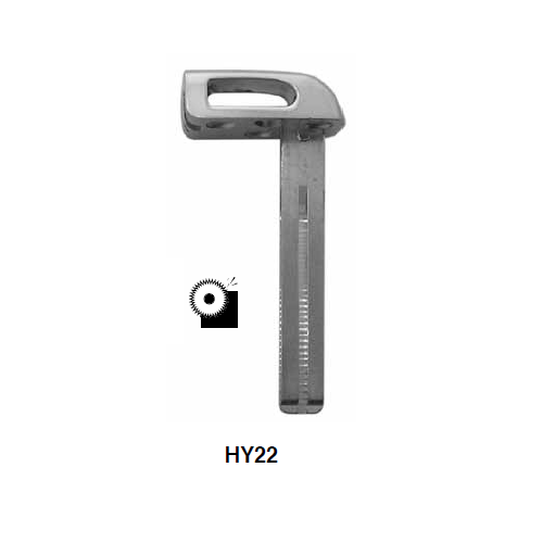 Ilco HY22 Key Blank : Hyundai Emergency