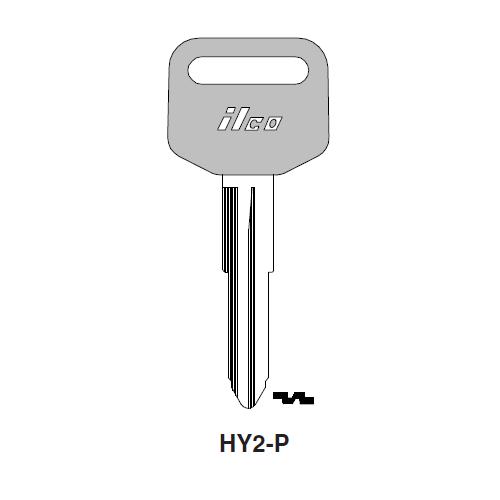 Ilco  HY2-P Hyundai Plastic Head Key Blank; ( HY2,  X160 )