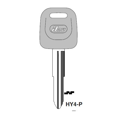 Ilco  HY4-P Hyundai Plastic Head Key Blank; ( HY4,  X187 )