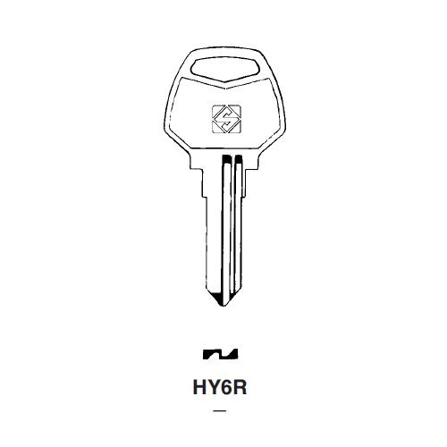 Ilco HY6R Key Blank : Harley Davidson