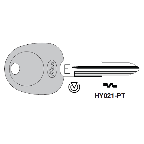 Ilco HY021-PT Transponder Key Blank; Hyundai, Kia