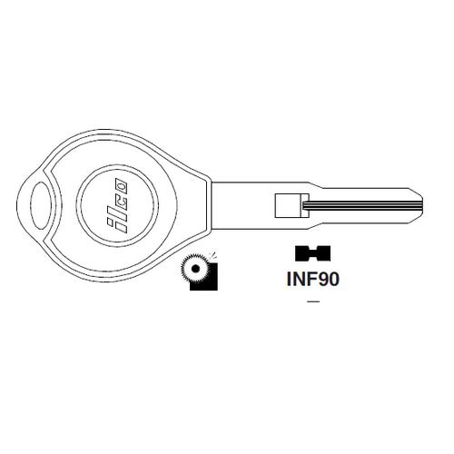 Ilco INF90 Key Blank : Infiniti, Nissan