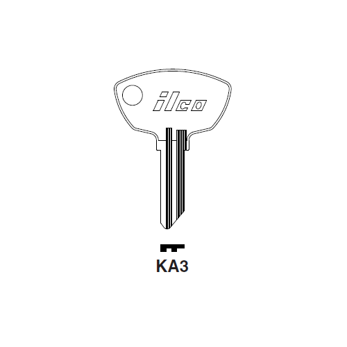 Ilco KA3 Key Blank : Kawasaki