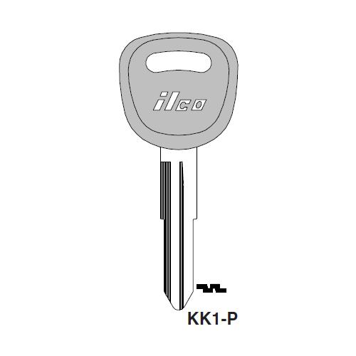 Ilco  KK1-P Kia Plastic Head Key Blank; ( X233 )