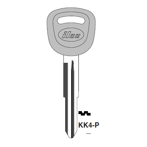 Ilco  KK4-P Kia Plastic Head Key Blank; ( KK4,  X267 )