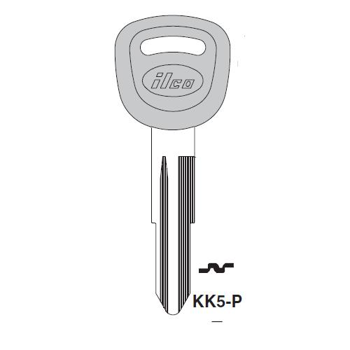 Ilco  KK5-P Kia Plastic Head Key Blank; ( KK5,  X269 )