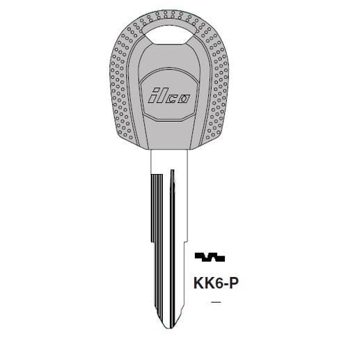 Ilco  KK6-P Kia Plastic Head Key Blank
