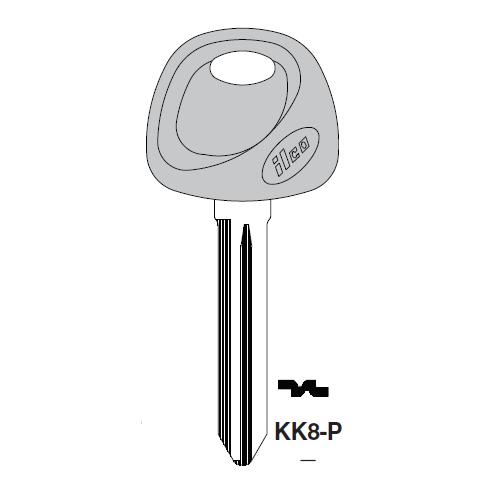 Ilco  KK8-P Kia Plastic Head Key Blank :Kia
