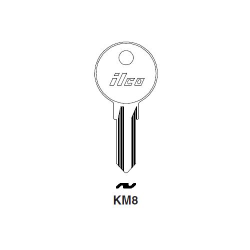 Ilco KM8 Key Blank : Peugeot, Simca, Talbot, Matra, Las, Ricouard