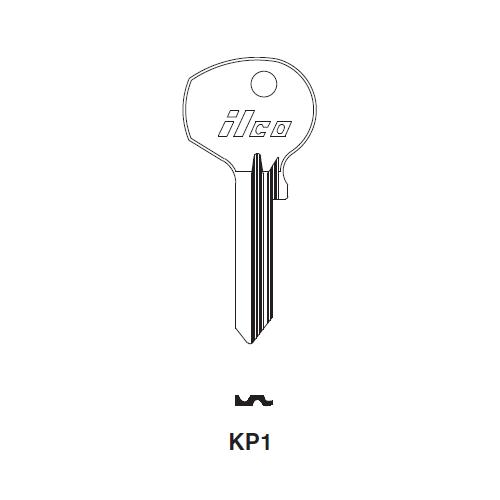 Ilco KP1 Key Blank : Porsche, VW