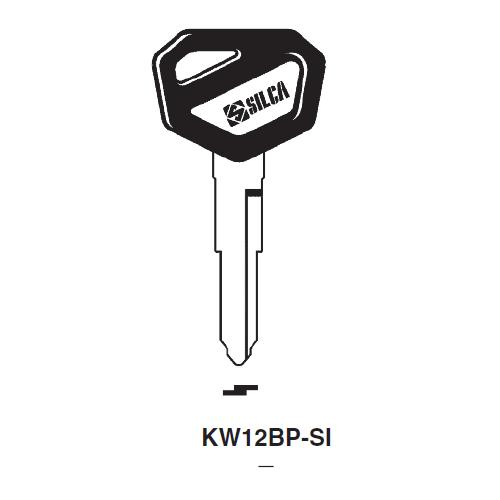 Ilco  KW12BP-SI Kawasaki Plastic Head Key Blank