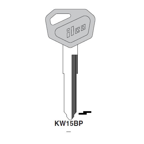 Ilco  KW15BP Kawasaki Plastic Head Key Blank