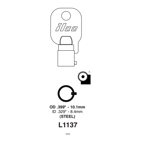 Ilco L1137 Key Blank : Chicago