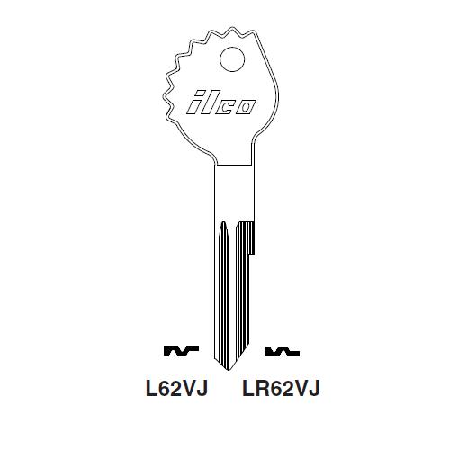 Ilco L62VJ Key Blank : Opel