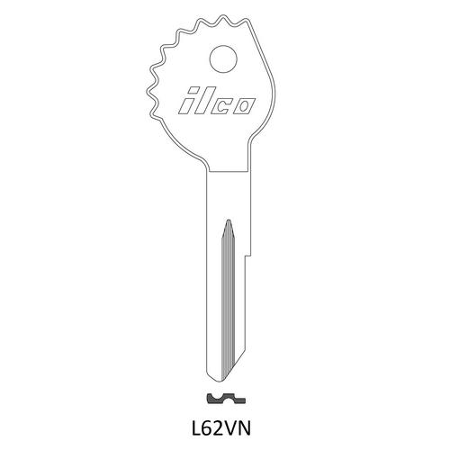 Ilco L62VN Key Blank : DKW, Opel
