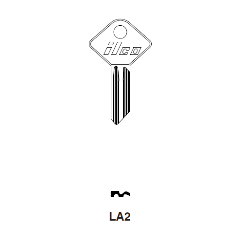 Ilco LA2 Key Blank : Lambretta | Metal Head