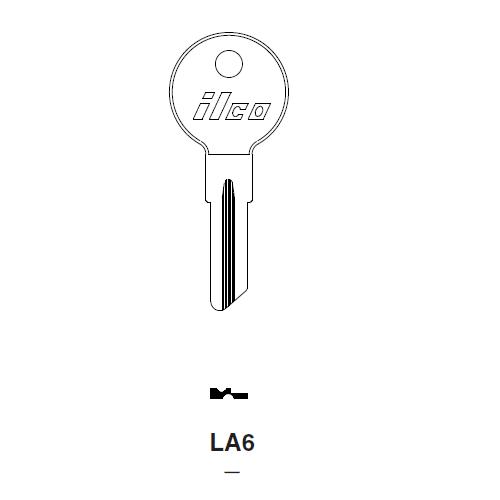 Ilco LA6 Key Blank : Fiat, Lambretta