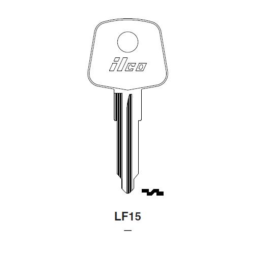 Ilco LF15 Key Blank : British Leyland
