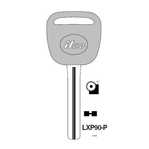 Ilco  LXP90-P Lexus, Toyota, Mazda Plastic Head Key Blank