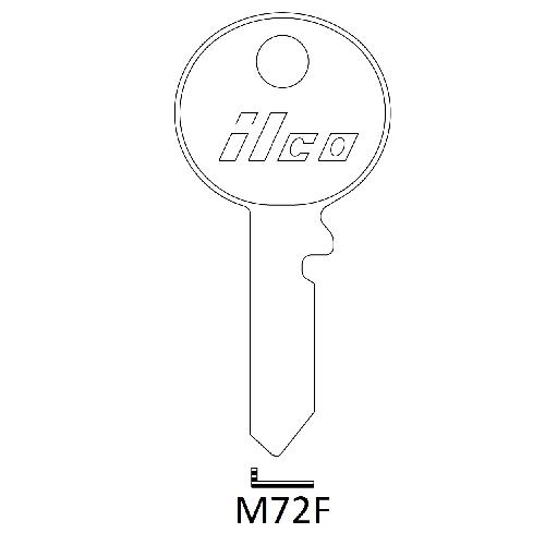 Ilco M72F Key Blank : British Leyland,