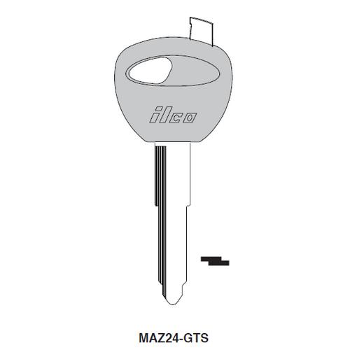 Ilco MAZ24-GTS Chipless Key Blank; MAZDA