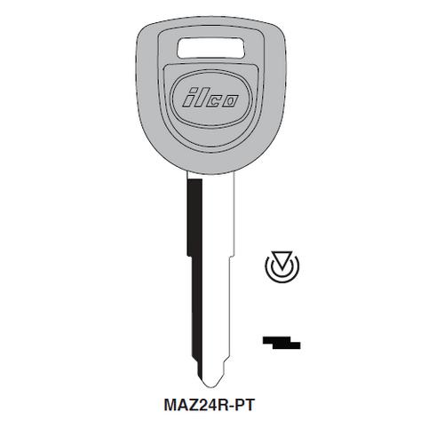 Ilco MAZ24R-PT Transponder Key Blank; Mazda