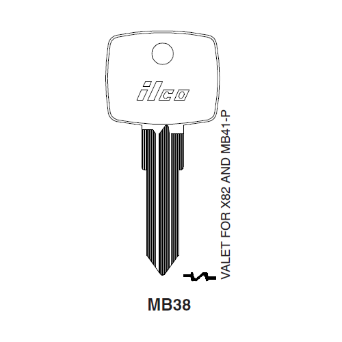 Ilco MB38 Key Blank : Mercedes Benz