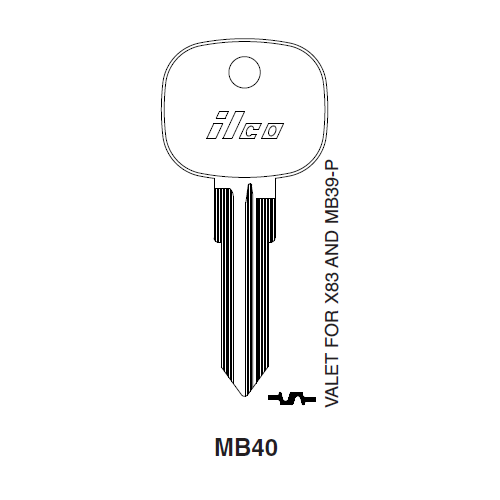 Ilco MB40 Key Blank : Mercedes Benz
