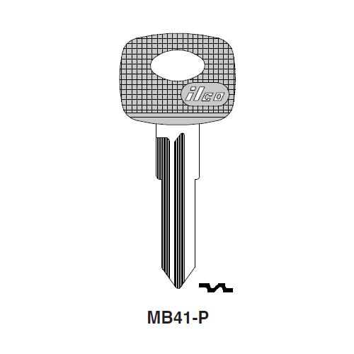 Ilco  MB41-P Mercedes Benz Plastic Head Key Blank; ( MB41,  X82 )