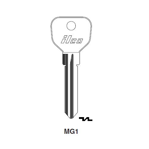 Ilco MG1 Key Blank : Stratec (B&S), Jaugar, Vauxhall