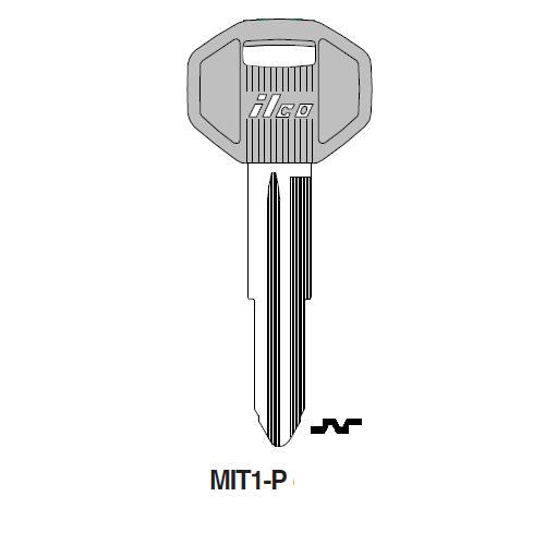 Ilco  MIT1-P Chrysle, Mitsubishi Plastic Head Key Blank; ( MIT1,  X176 )
