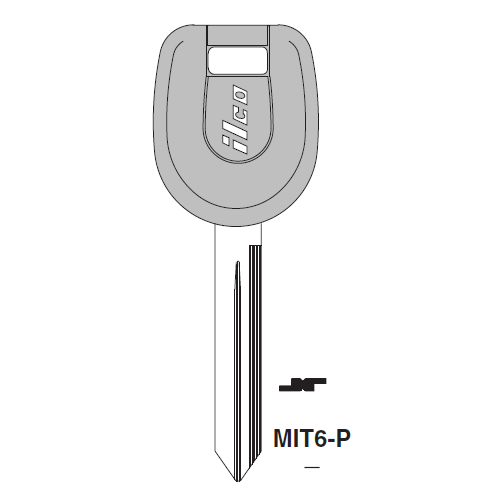 Ilco  MIT6-P Mitsubishi Plastic Head Key Blank; ( MIT6,  X263 )