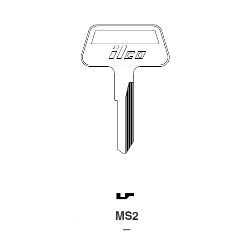 Ilco MS2 Key Blank : Chrysler