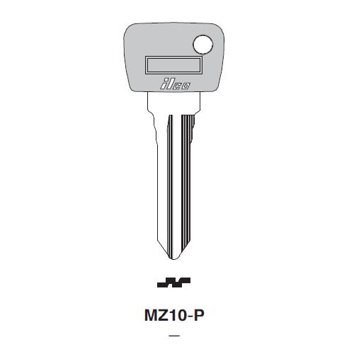 Ilco  MZ10-P Mazda Plastic Head Key Blank; ( MZ10,  X27 )